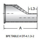 Reducer, Eccentric, Short, Clamp and Tube Ends