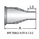 Reducer, Concentric, Short, Clamp and Tube Ends